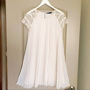 Zara accordion pleated mini dress